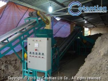 Dây chuyền nghiền, sàng phân hữu cơ 4 – 5 tấn/giờ