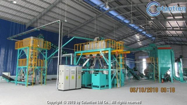 Dây chuyền sản xuất phân bón tại TTCAD