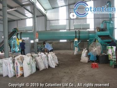 Dây chuyền sản xuất phân hữu cơ dạng viên 1,2 – 2,5 tấn/giờ