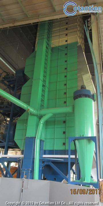 Dây chuyền sấy bắp hạt thương phẩm 100 tấn/ngày