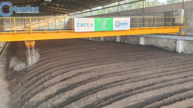 Hệ thống thiết bị đảo trộn phân hữu cơ trong khi ủ _ Công ty TNHHPhân bón hữu cơ Bách Tùng